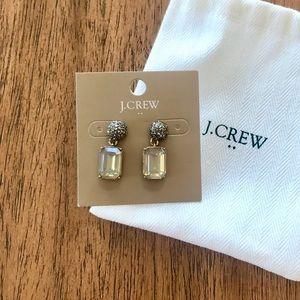 NWT J Crew Rhinestone Drop Earrings